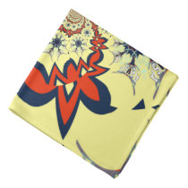 Latest lovely Golden creamy color floral design Bandana