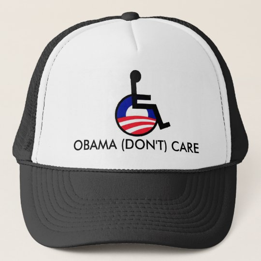 latest, OBAMA (DON'T) CARE Trucker Hat