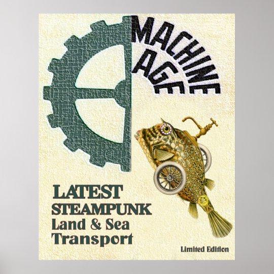 Latest Steampunk Land & Sea Travel Poster