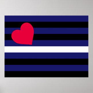 Látex de cuero y bandera del orgullo de BDSM Posters
