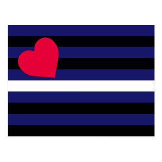 Látex de cuero y bandera del orgullo de BDSM Postales