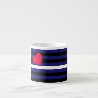 Látex de cuero y bandera del orgullo de BDSM Taza Espresso