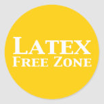 Latex Free Zone Gifts Classic Round Sticker