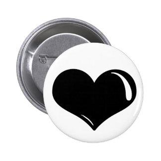 Latex Heart 2 Inch Round Button