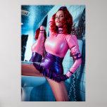 LÁTEX rosado y AZUL del POSTER GRANDE - - Bianca B