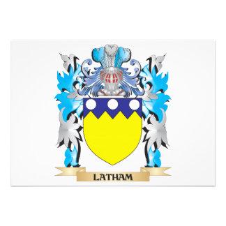 Latham Coat of Arms - Family Crest Custom Invitation