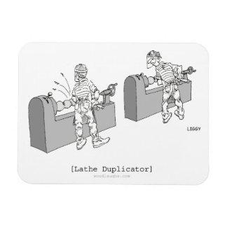 Lathe Duplicator Cartoon Premium Flexi Magnet
