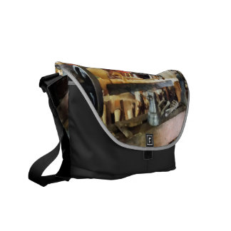 Lathe in Wood Shop Courier Bags