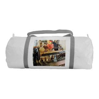 Lathe in Wood Shop Gym Duffle Bag