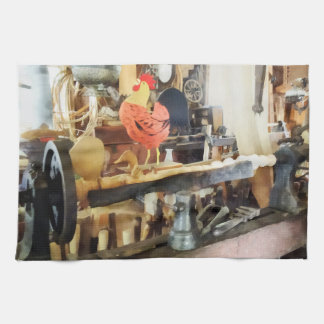 Lathe in Wood Shop Towel