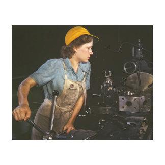 Lathe Operator 1942 Canvas Print