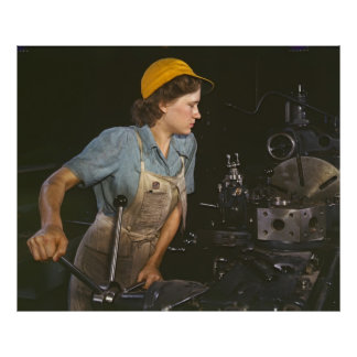 Lathe Operator 1942 Poster