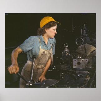 Lathe Operator 1942 Poster