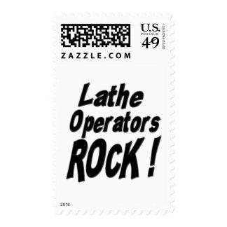 Lathe Operators Rock ! Postage Stamp