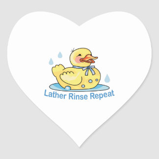 LATHER RINSE REPEAT HEART STICKER