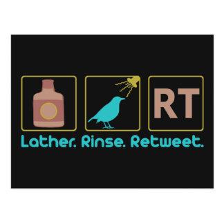 Lather. Rinse. Retweet. Postcard