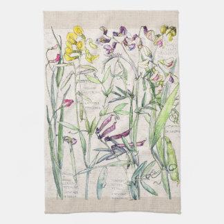 Lathyrus Pea Wildflowers Flowers Kitchen Towels