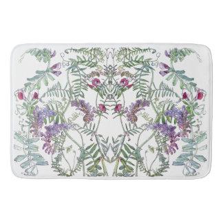 Lathyrus Vetch Sweet Pea Flowers Garden Bath Mat