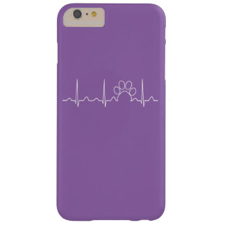 Latido del corazón de la pata funda barely there iPhone 6 plus