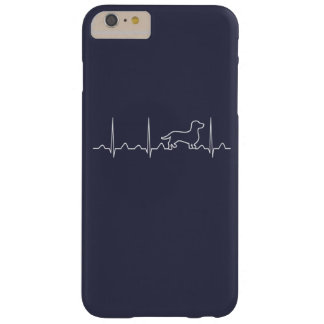 Latido del corazón del Dachshund Funda Barely There iPhone 6 Plus