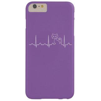Latido del corazón del gato funda barely there iPhone 6 plus