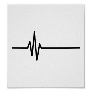 Latido del corazón del pulso de la frecuencia póster