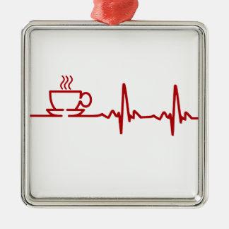 Latido del corazón EKG del café de la mañana Adornos