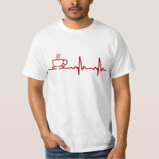 Latido del corazón EKG del café de la mañana Playeras