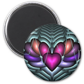 Latido del corazón eléctrico imán redondo 5 cm