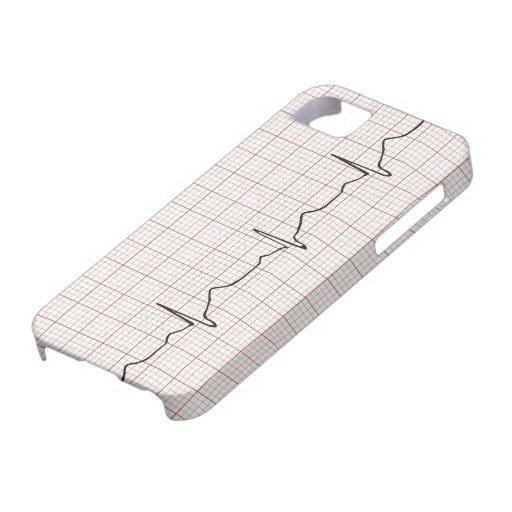 Latido del corazón en el papel cuadriculado, pulso iPhone 5 Case-Mate funda