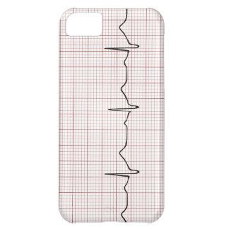 Latido del corazón en el papel cuadriculado, pulso funda para iPhone 5C