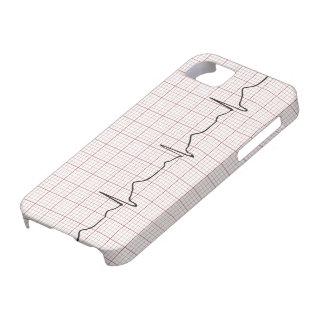 Latido del corazón en el papel cuadriculado, pulso funda para iPhone SE/5/5s
