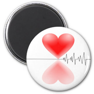 Latido del corazón imán redondo 5 cm