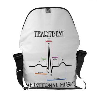 Latido del corazón mi música interna bolsa de mensajería