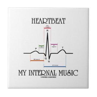 Latido del corazón mi música interna (electrocardi azulejos
