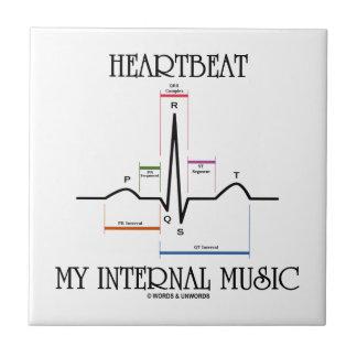 Latido del corazón mi música interna (electrocardi tejas  ceramicas