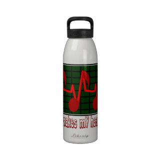 Latido del corazón musical botellas de beber