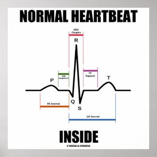 Latido del corazón normal dentro del electrocardio posters