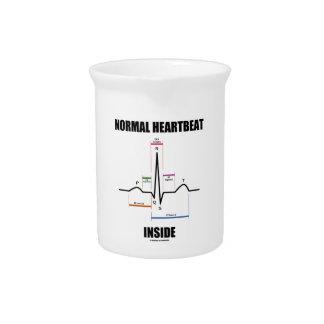 Latido del corazón normal dentro del jarra de beber