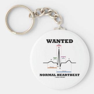 Latido del corazón normal querido (electrocardiogr llavero redondo tipo pin