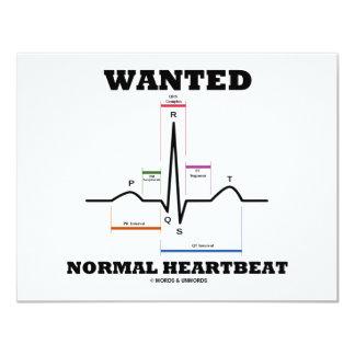 """Latido del corazón normal querido invitación 4.25"""" x 5.5"""""""
