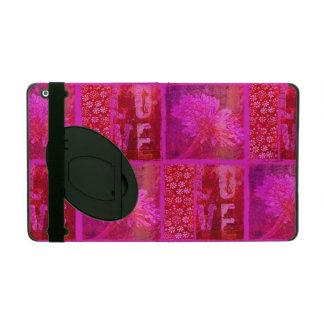 Latido del corazón rosado iPad cobertura