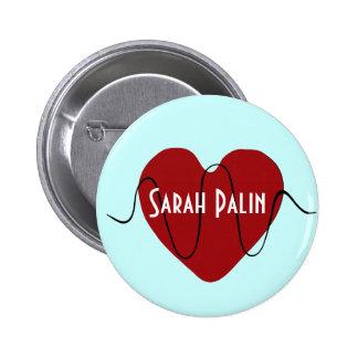 latido del corazón Sarah Palin Pins