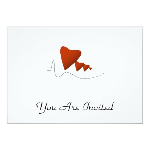 Latidos del corazón invitación 12,7 x 17,8 cm