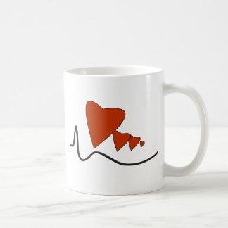 Latidos del corazón taza de café