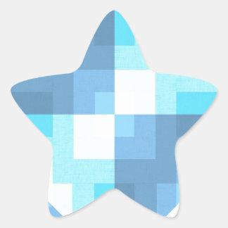 Latigazo de la imagen de la cena de la tela pegatina en forma de estrella