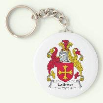 Latimer Family Crest Keychain
