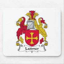 Latimer Family Crest Mousepad