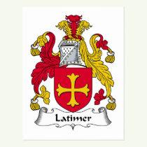 Latimer Family Crest Postcard