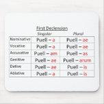 Latin 1st Singular Mouse Pad